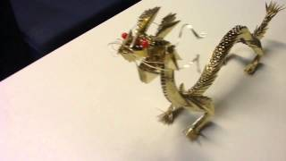 Golden Dragon Origami