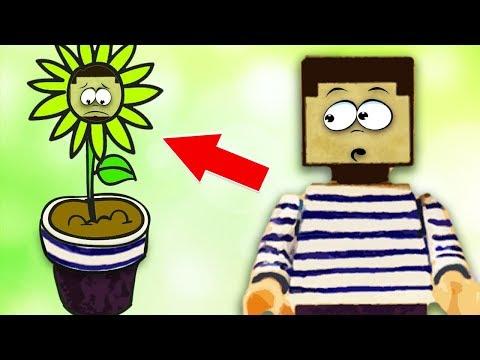 НУБ из МАЙНКРАФТ ПРЕВРАТИЛСЯ в ЦВЕТОК ! Как сделать фокус с бумажными цветками !