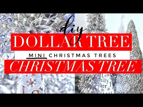 DIY Luxe Mini Christmas Trees for $5 or Less - Holiday Decor Ideas