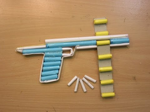 How to make a Simple Airsoft Gun - Paper Pistol - Improved Trigger - Easy Paper Gun Tutorials