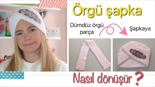 DIY- EN KOLAY ÖRGÜ ŞAPKA-HOW TO MAKE SUPER EASY KNIT TURBAN HAT