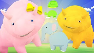 Aprender com o Dino -  Aprenda cores com animais - Aprender em português 👶 Desenhos Animados