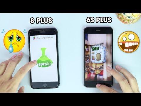 "Speedtest iphone 6s Plus vs 8 Plus: Apple A11 Ram 3GB ""thua"" A9 Ram 2GB?"