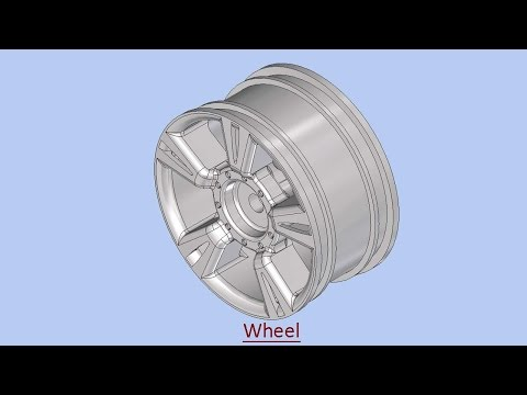Autodesk Inventor 2014 How To Make Full Wheel Tutorial