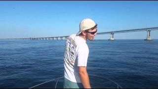 Evan Fights BIG Sting Rays with a Bass Rod!