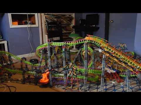 Charger - A K'nex Flying Coaster - Full Test Run