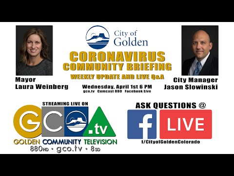Coronavirus Community Briefing and Live Q&A - April 1, 2020