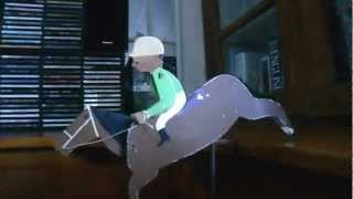 Wooden Toy: Rocking Race Horse, Cleverly Counterweighted To Balance On One Hoof.