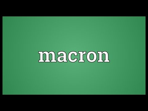Macron Meaning