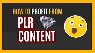 How To Profit From PLR Content [Private Label Rights]