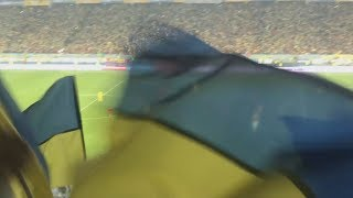 Стадион празднует победу сборной Украины Украина Португалия 2 1