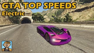 Fastest Electric Cars (2019) - GTA 5 Best Fully Upgraded Cars Top Speed Countdown