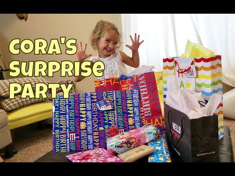 🎉CORA'S SURPRISE BIRTHDAY / FAIL & OPENING PRESENTS