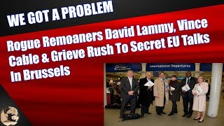 Rogue Remoaners David Lammy, Vince Cable & Grieve Rush To Secret EU Talks In Brussels