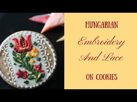 Hungarian Embroidery And Lace On Cookies 2