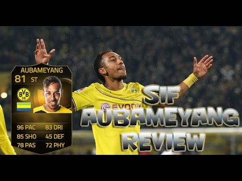 FIFA 15 Ultimate Team กองหน้าที่เร็วที่สุดในเกม? - SIF Aubameyang Player Review