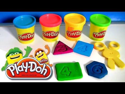 Play-Doh Letras e Números da Hasbro Massinhas de Modelar | Learn ABC with Play Doh Letters & Numbers