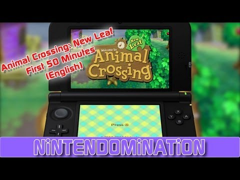 Animal Crossing: New Leaf - First 50 Minutes (English)