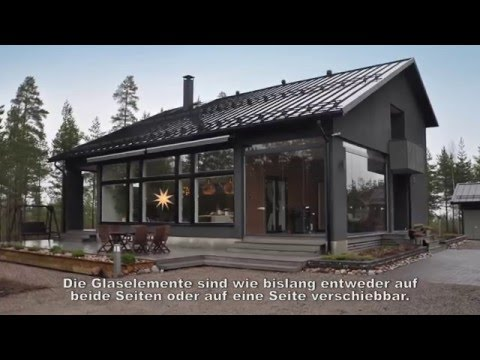 Rahmenlose Lumon Terrassenverglasungen - YouTube