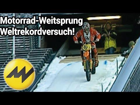 Motorrad-Weitsprung Weltrekordversuch: Toni