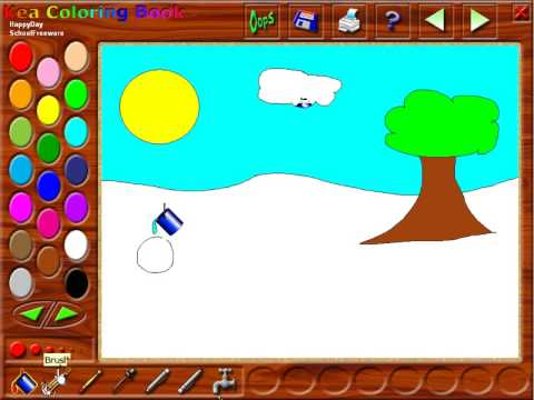 Kea Coloring Book Tutorial - Free Software for Kids - YouTube