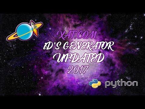 ¡¡¡UPDATED!!![[2017]]Generator iD's XAT.COM #Python - By iiADJii