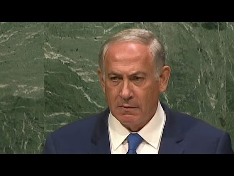 Netanyahu gives U.N. long, silent glare over Iran threats