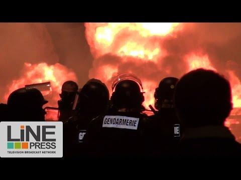 Heurts entre gardiens de prison et gendarmes / Fleury-Mérogis (91) - France 10 avril 2017