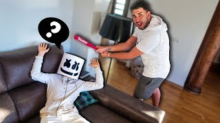 I TEACH MARSHMELLO TO SPEAK *Fortnite in real life*