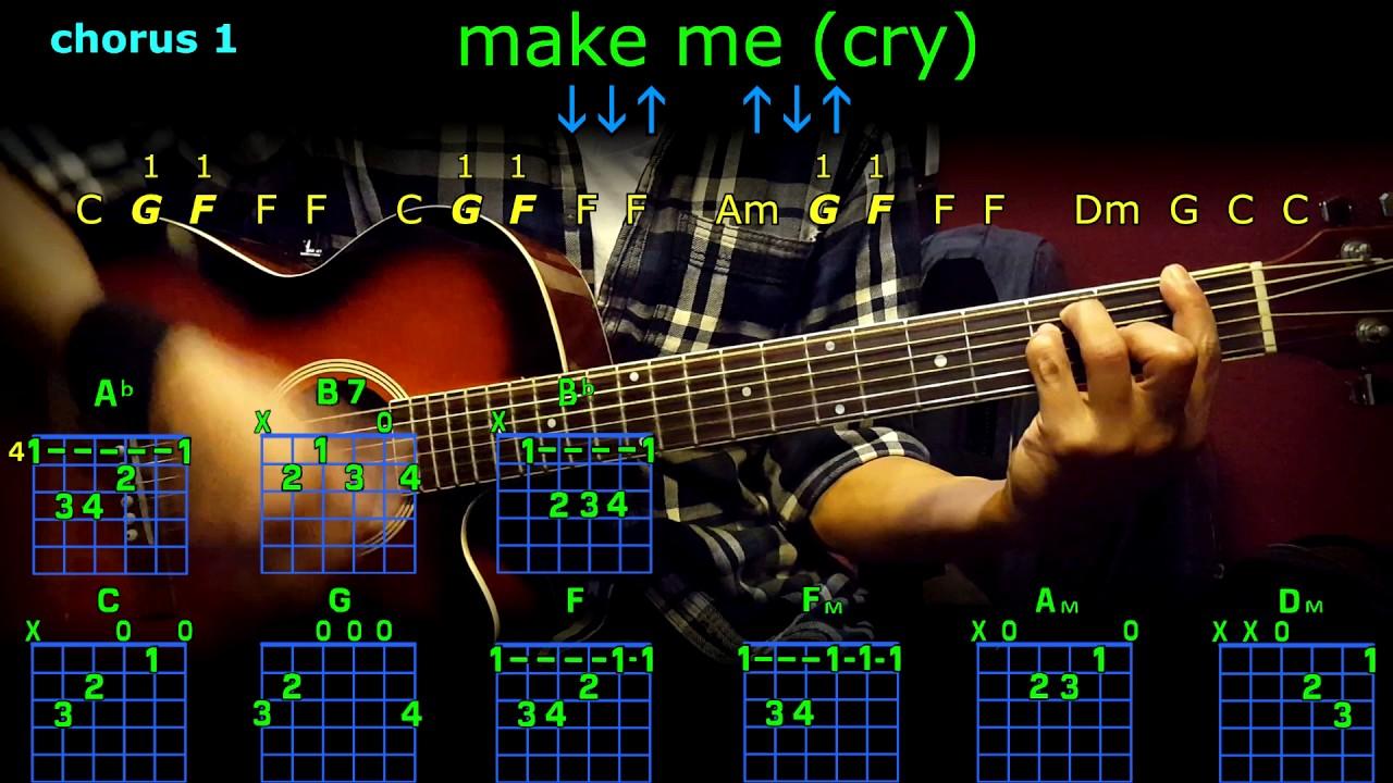 Make Me Cry Noah Cyrus Guitar Chords Youtube