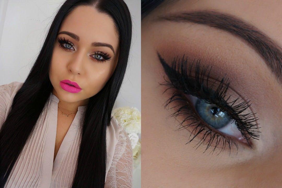Classic Smokey Eye Bold Pink Lip Makeup Tutorial Youtube