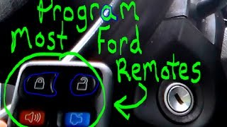 How to Program Most Ford keyless entry remotes!!!