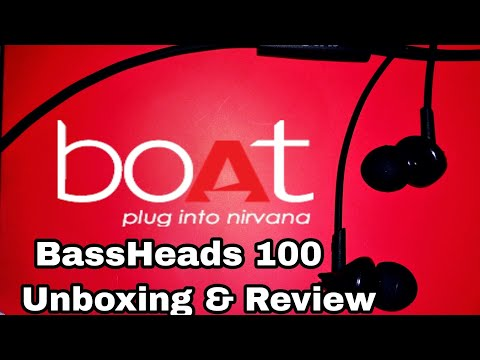 Boat BassHeads 100 In-Ear Headphones with Mic UNBOXING in HINDI
