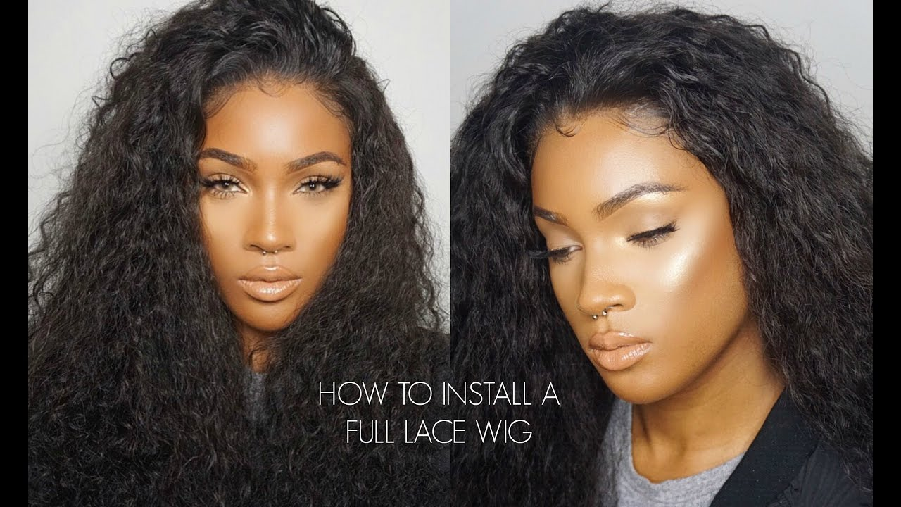 How To Install a Full Lace Wig ft. YariszBeth