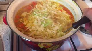 Вкусные щи из свежей капусты с томатами