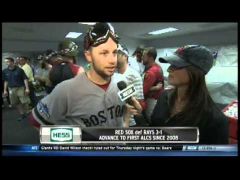 Jenny Dell gets Soaked by Clay Buchholz