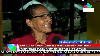Multinoticias |Familias disfrutan de concierto para celebrar el amor en el paseo Xolotlán