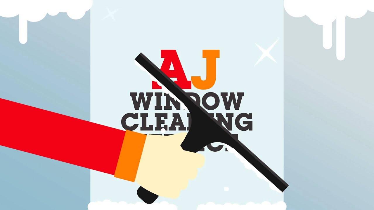 aj window cleaning service advert