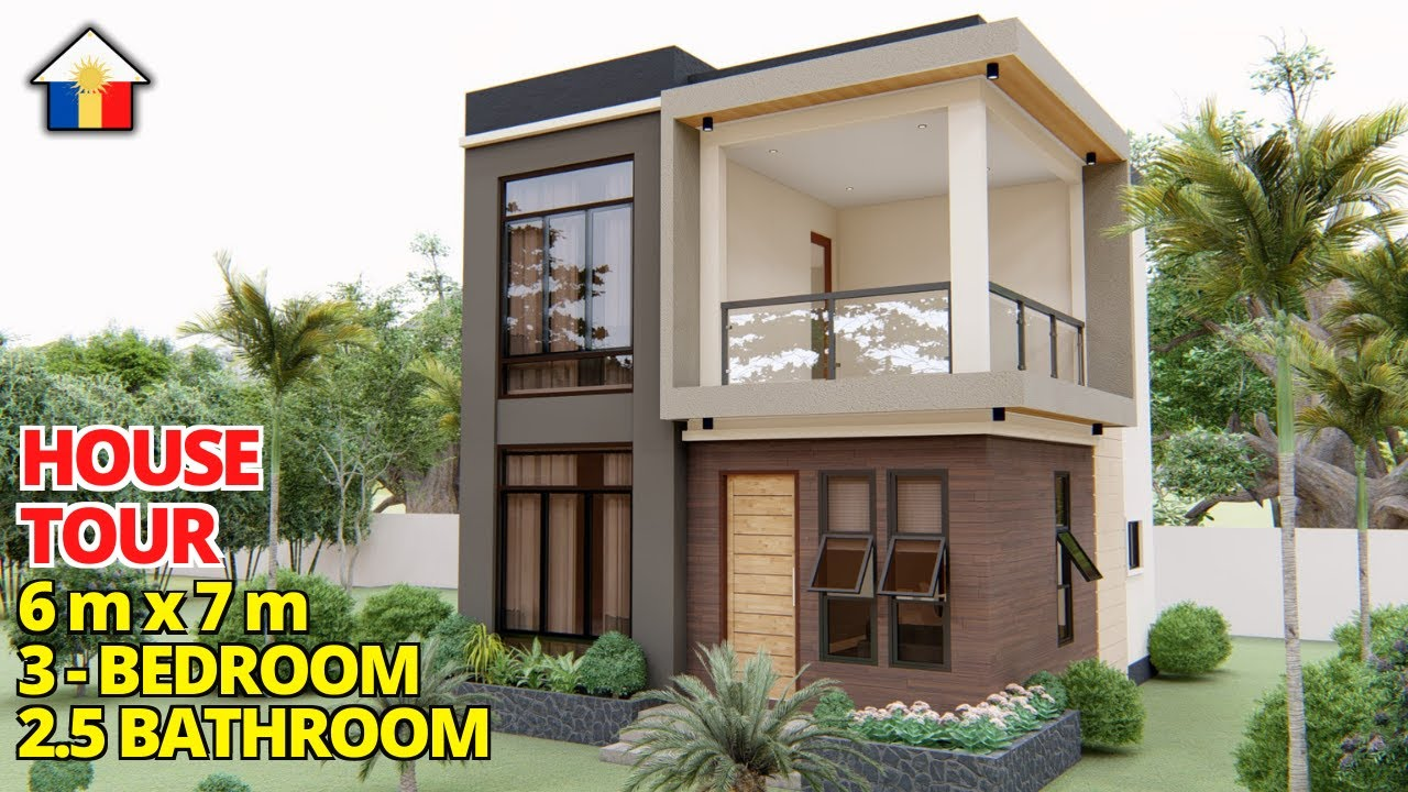Download SMALL HOUSE DESIGN / 2 - STOREY HOUSE WITH 3 BEDROOMS