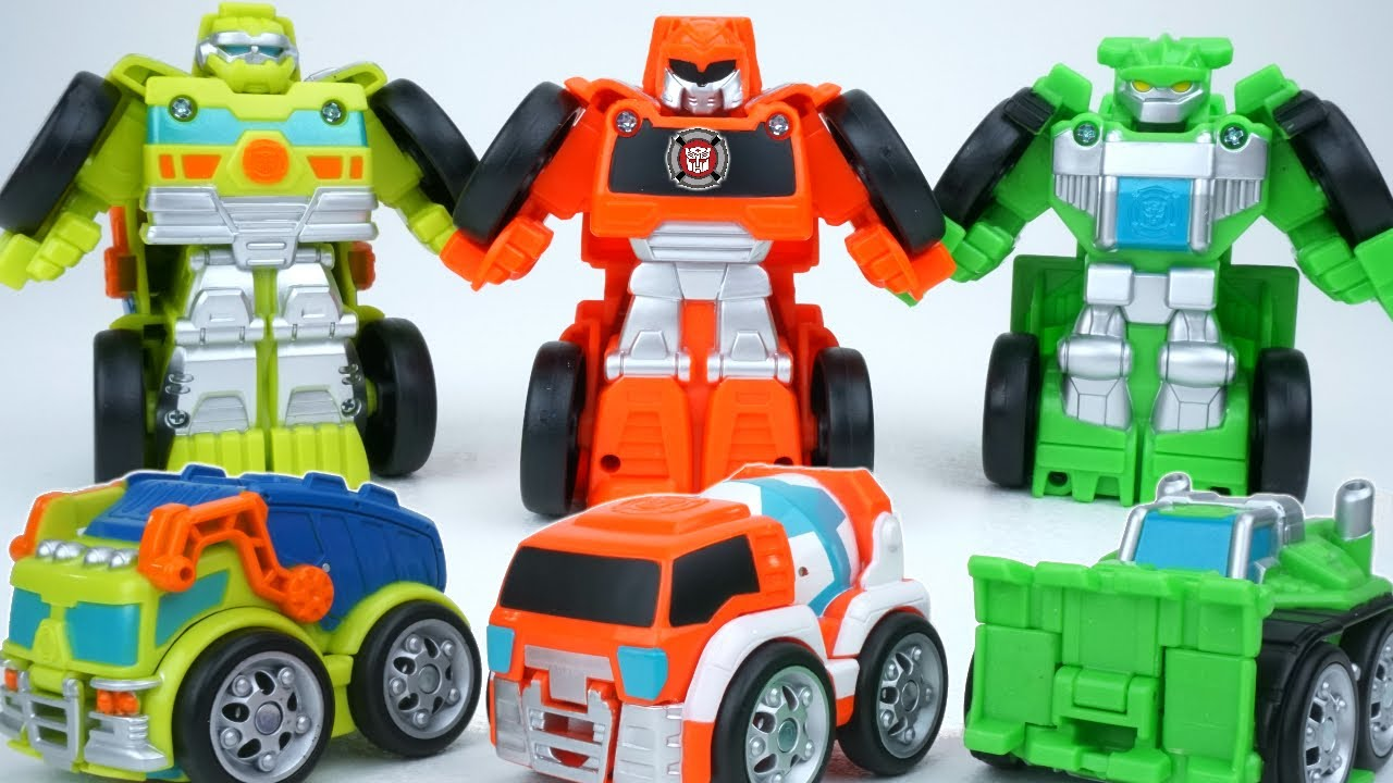New Transformers Rescue Bots Flip Racers Construction