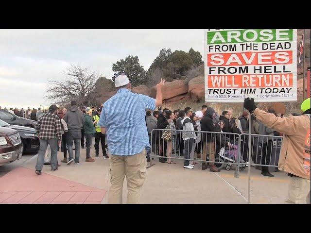 Snoop Dogg Concert Denver, CO - PROBLEMS w/POLICE - Street Preaching - Kerrigan Skelly