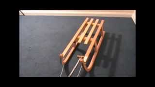 Foldable Wooden Toboggan