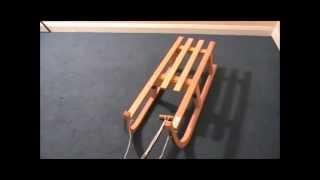 Foldable Wooden Toboggan