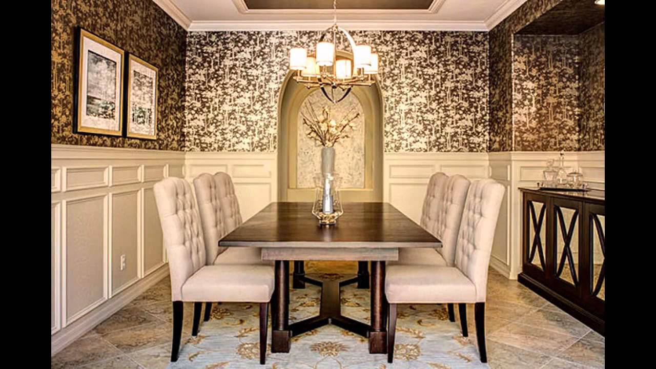 Elegant Wallpaper Designs For Dining Room Decorating Ideas YouTube - Dining room decorating ideas wallpaper