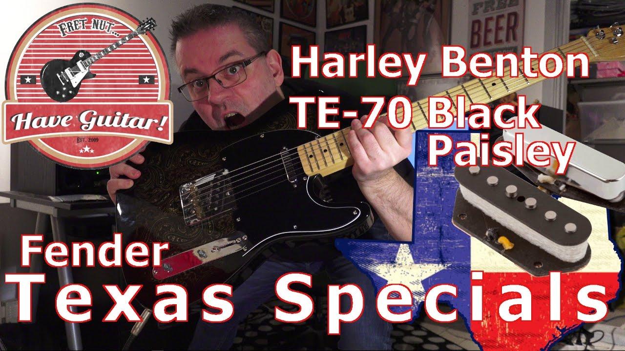 Harley Benton Te 70 Black Paisley Telecaster With Fender Texas Specials Special Wiring Diagram
