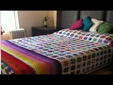 Colchas y cobijas para camas tejidos a crochet n 02 youtube - Imagenes de colchas para camas ...