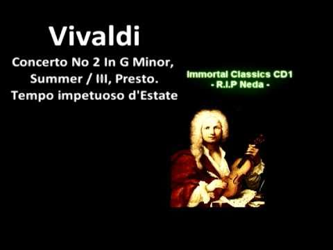 Vivaldi - (HQ) Summer / III, Presto.Tempo impetuoso d'Estate