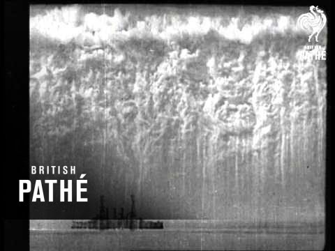 Smoke Screen For Ships - And Bombing Raid (1914-1918)