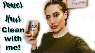 POWER HOUR LATE NIGHT CLEAN WITH ME! | CLEANING MOTIVATION 2019 | ASMR CLEANING |CHANELLE ANGELINA