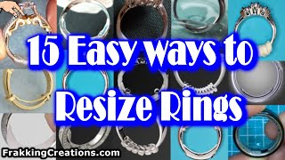 Need to Resize a Ring?  Best Ways + 2 you never heard of - How to make ring fit DIY Lifehacks